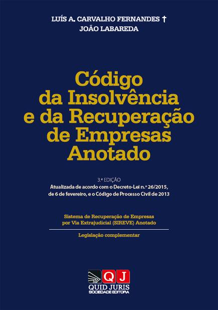 Código da Insolvência e da Recuperação de Empresas Anotado
